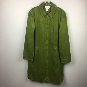 AWESOME GREEN CORDUROY NEWPORT NEWS DUSTER SIZE L
